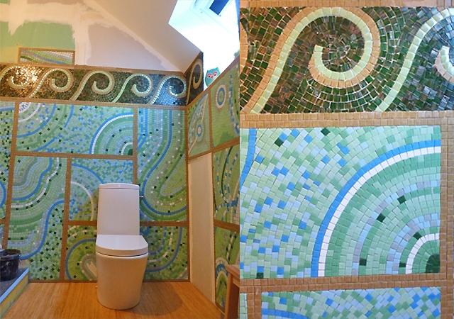 Un Decor Mosaique Odorico Dans Une Salle De Bain