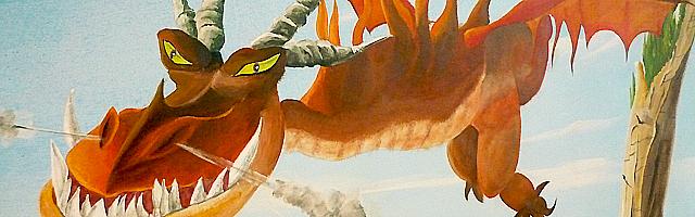 fresque au dragon