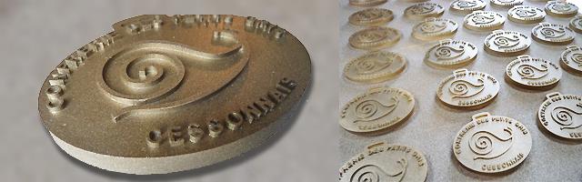 conception de médailles