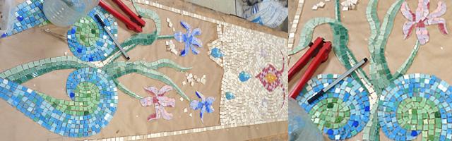 mosaïque murale en émaux
